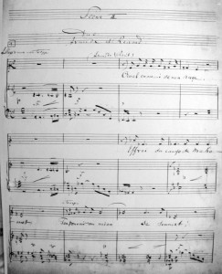 Armide et Renaud, Manuskript Schmitts